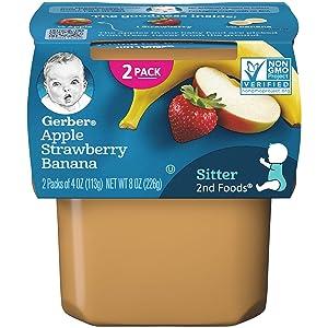 Gerber 2nd Foods, Apple Strawberry Banana, 8 oz (pack of 2)