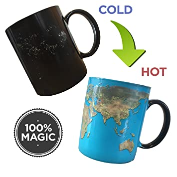 Amazon day and night world map mug harry potter coffee mug heat day and night world map mug harry potter coffee mug heat sensitive colour changing magic ceramic gumiabroncs Gallery