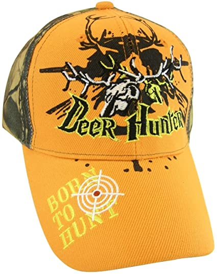 17f342545f1baf Deer Hunter Born to Hunt Adjustable Baseball Cap (Orange) at Amazon Men's  Clothing store: