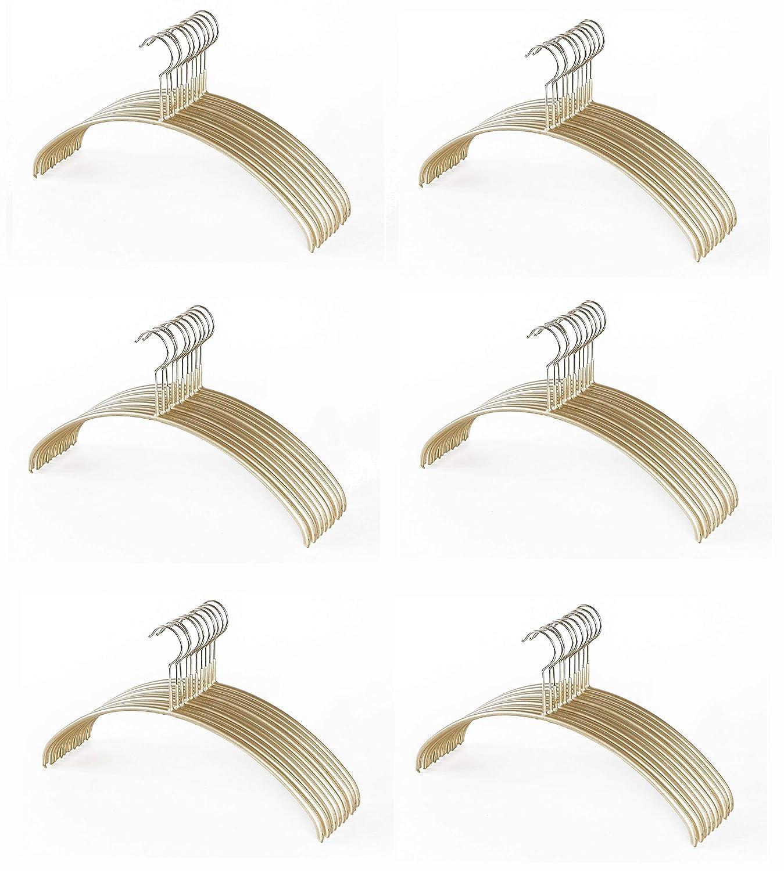 MAWA 衣類ハンガー ゴールド 40×22×1㎝ 人体ハンガー 119610 60個セット B07JLTYRWH