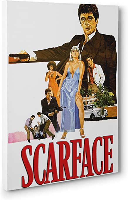 Scarface Al Pacino Classic Movie Large CANVAS Art Print