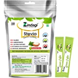 Zindagi Pure Stevia White Powder Extract Sugarfree Sweetener 100 Sachets