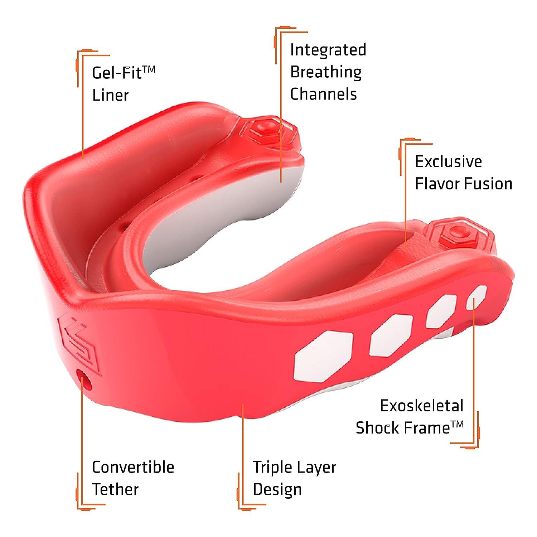 shockdoctor Protector Dental para Adultos Gel MAX Flavor Fusion, spea Spearmint, 11+, 6323de SM de YTR 6323Y