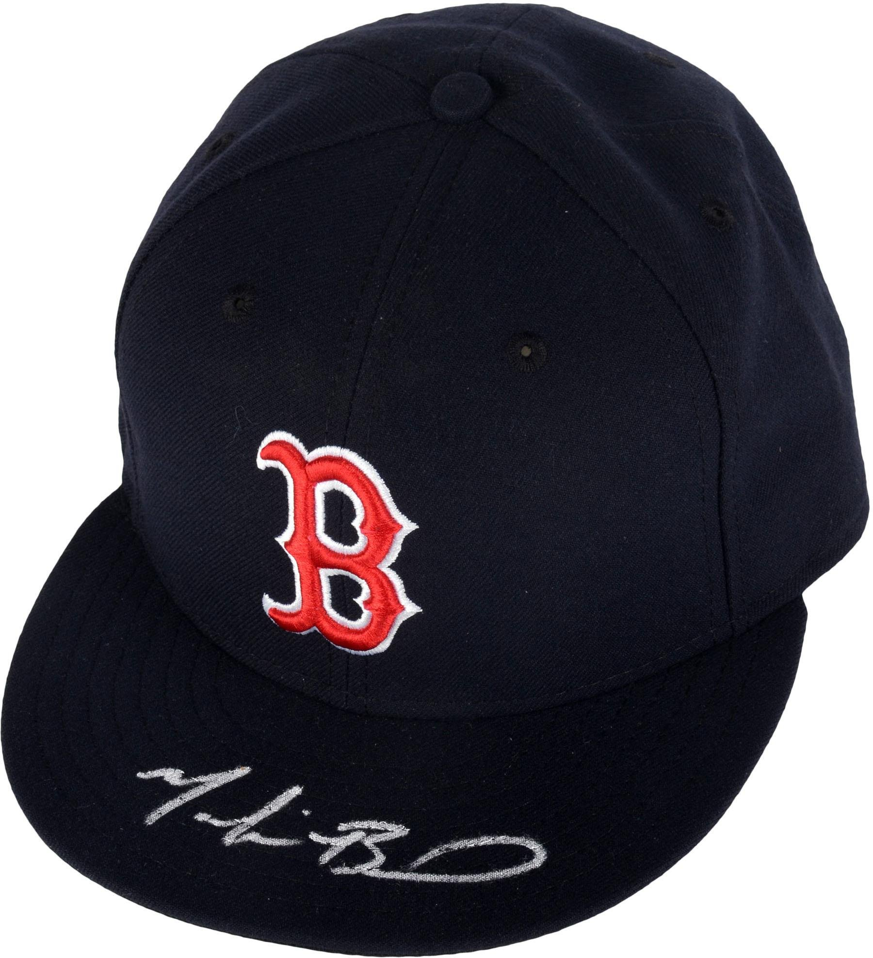 Mookie Betts Boston Red Sox Autographed New Era Baseball Cap Fanatics Authentic Certified Autographed Hats