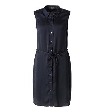 C&A Damen Kleid Blusenkleid ärmellos durchgehende