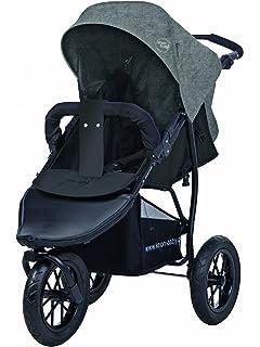 Carrito para niños de la marca Knorr-Baby, con tres ruedas y capota gris
