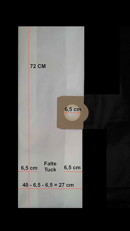 1x Sac-filtre tissus /à fermeture /éclair pour aspirateur SOTECO 315