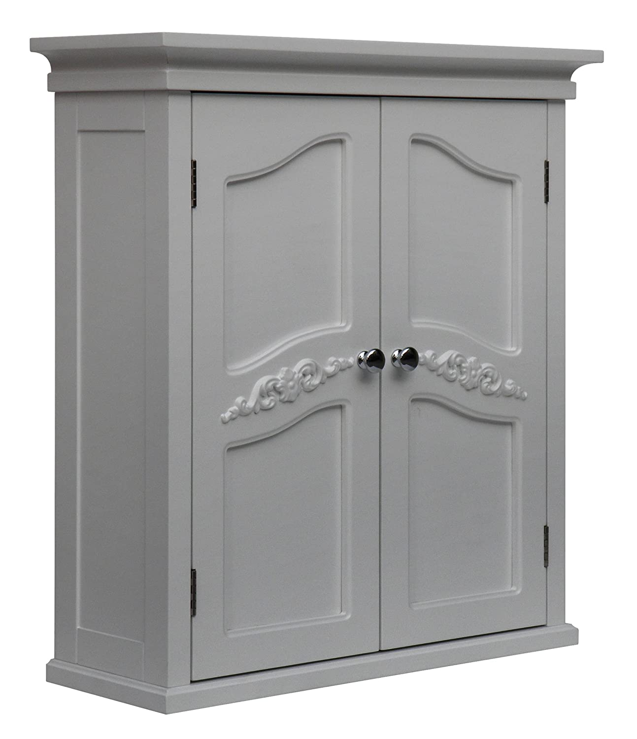 Amazon Elegant Home Fashion Vera 2 Door Wall Cabinet White