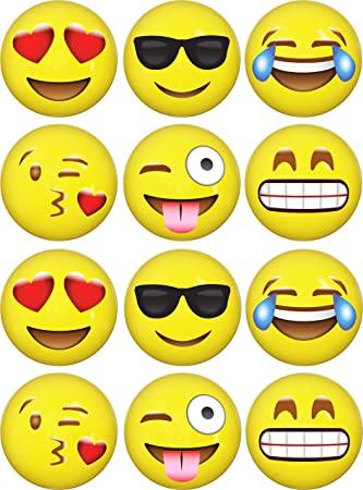 LiveEco 12 Emoji Inflatable Beach Balls Pack