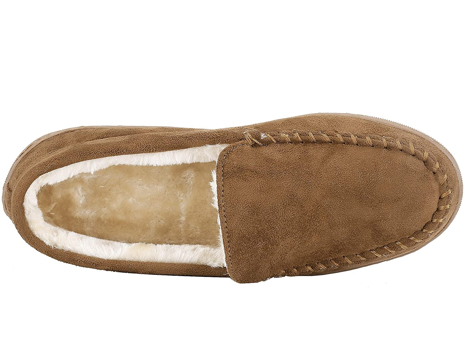 ea8a900b328 MaxMuxun Men Shoes Faux Fur Slip On Flat Moccasin Loafer  Amazon.co.uk   Shoes   Bags