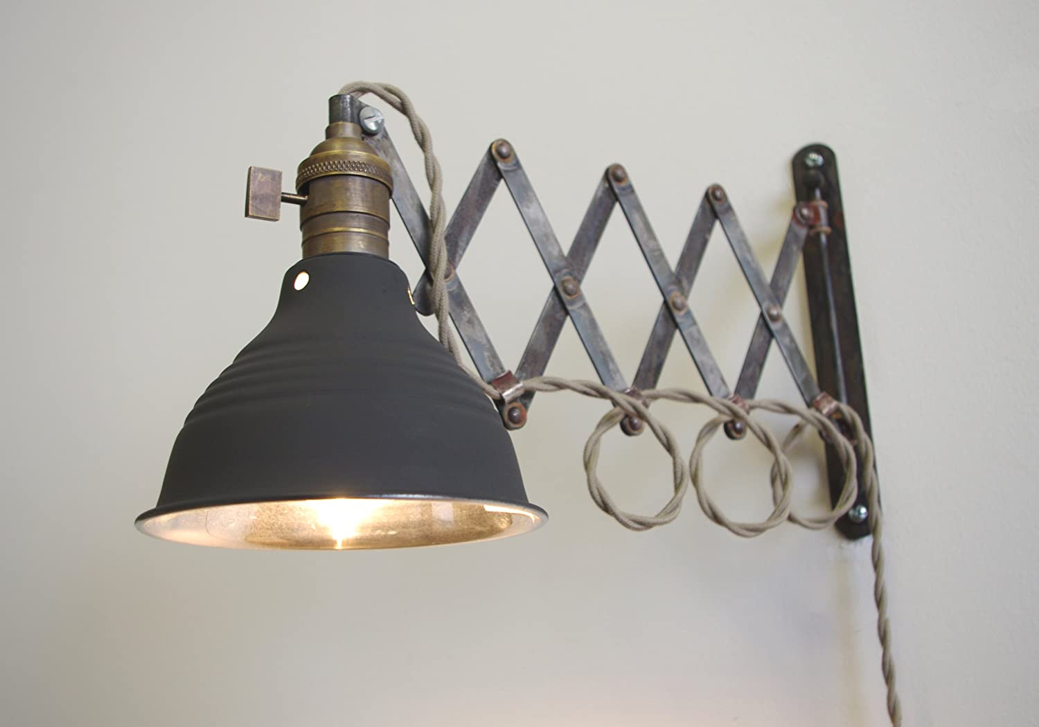 lighting on wall. Scissor Extention Accordion Wall Lamp - Antiqued Patina Steam Punk Light Sconces Amazon.com Lighting On N