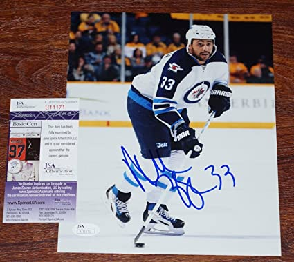 946468e71e5 Dustin Byfuglien Signed Picture - #33 8x10 + COA U11171 - JSA Certified - Autographed  NHL Photos at Amazon's Sports Collectibles Store