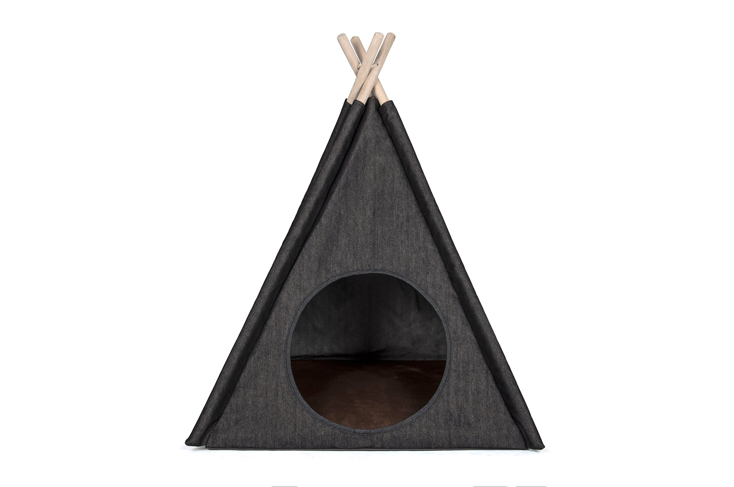 P.L.A.Y. PET LIFESTYLE AND YOU P.L.A.Y. - Teepee Tent - Urban Denim - One Size by P.L.A.Y. PET LIFESTYLE AND YOU (Image #1)