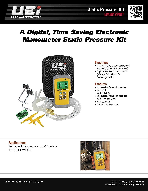 UEI Test Equipment Em201Spkit Static Pressure Kit