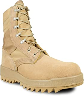 product image for McRae Mens Desert Tan Suede/Nylon Ripple Military Desert Boots 5.5W