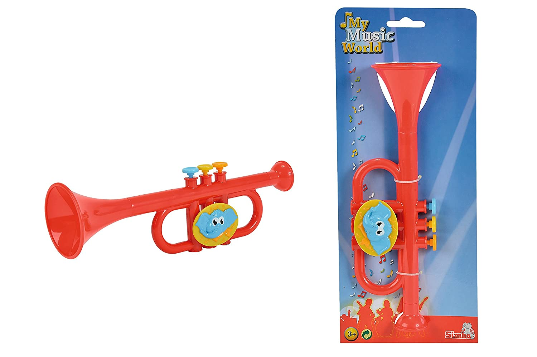 buy simba my music world plastic trumpet elephant version red