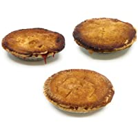 "Summer Sweets Bundle: 3-PACK of Vegan 6"" Pies: Peach, Strawberry Rhubarb, and Apple"