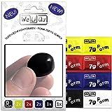 WeLiQu Formbarer Kleber - Geruchlos - Wird richtig hart und stabil - 8 Stück á 7g auf PVC-Basis - 2x Gelb, 2x Rot, 2x Blau, 1x Schwarz, 1x Weiß