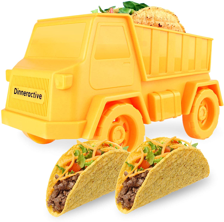 Dinneractive Tidy Taco Truck - Kids Taco Holder - Fun Tacos Stand - Cute Kid Taco Shells Holders - Novelty Food Trucks
