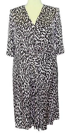 Marina Rinaldi by MaxMara Nixon Pink Animal Print V-Neck Dress 10W / 19