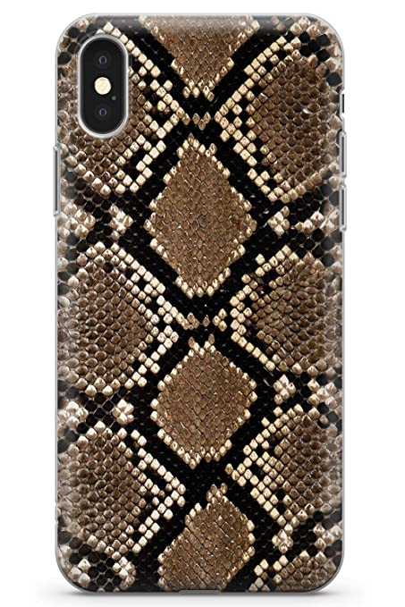 new style 2ffa6 e020e Case Warehouse iPhone 10 Case, iPhone X Case, Snakeskin Phone Case Clear  Ultra Thin Lightweight Gel Silicon TPU Protective Cover | Animal Print ...