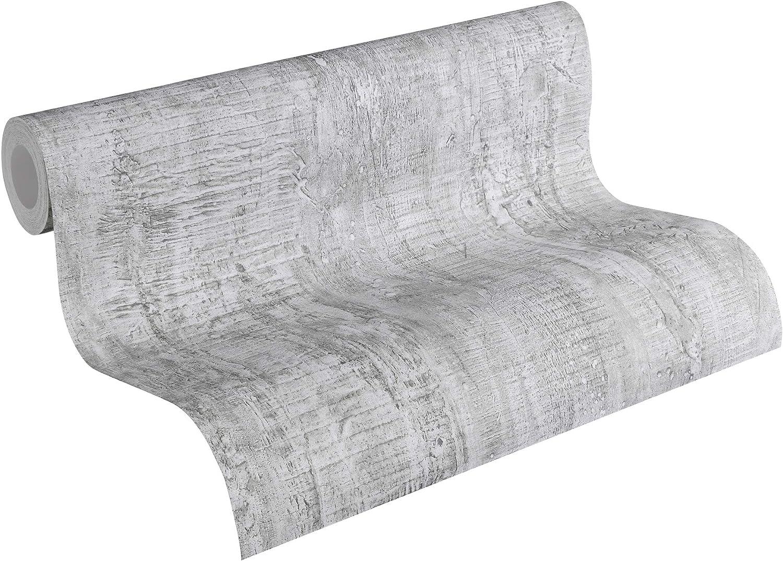 Sch/öner Wohnen papel pintado gris 10,05 m x 0,53 m 944263