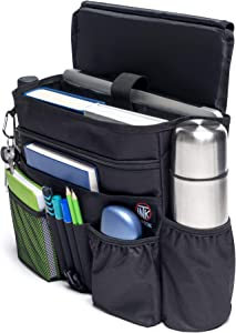 INTOK Car Organizer for Front Seat - Passenger Seat Organizer - Law Enforcement Seat Organizer - Police Storage Bag - Truck Cab Organizer - Mobile Office Organizer for Car - Pro Patrol Caddy for Auto