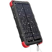 OUTXE Solar Powerbank Wasserdicht 10000mAh IP67 Rugged Outdoor Akkupack mit Taschenlampe