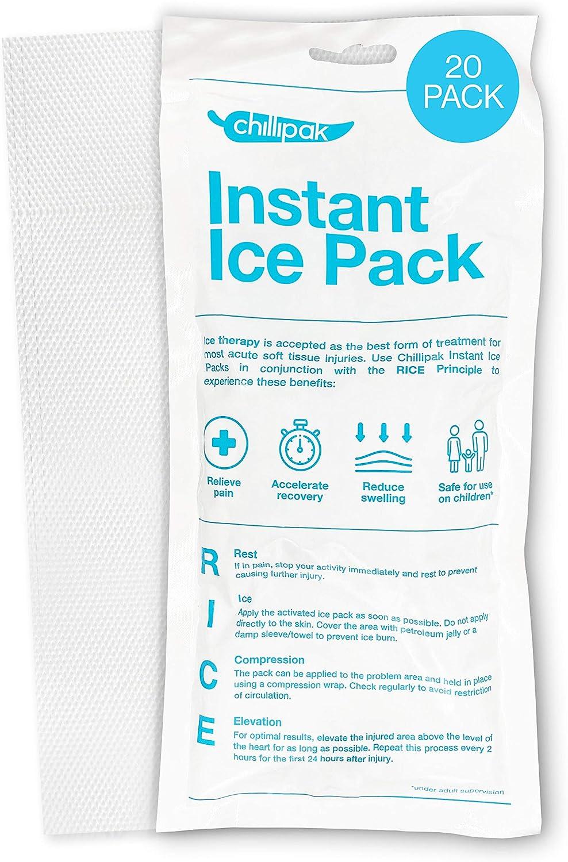 Paquetes de hielo instantáneo ChilliPak para lesiones deportivas ...