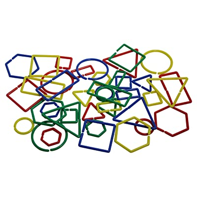 Curious Minds Busy Bags Attribute Links - Sorting and Math Manipulative - Classroom Material - Sort by Color, Size, Shape: Toys & Games