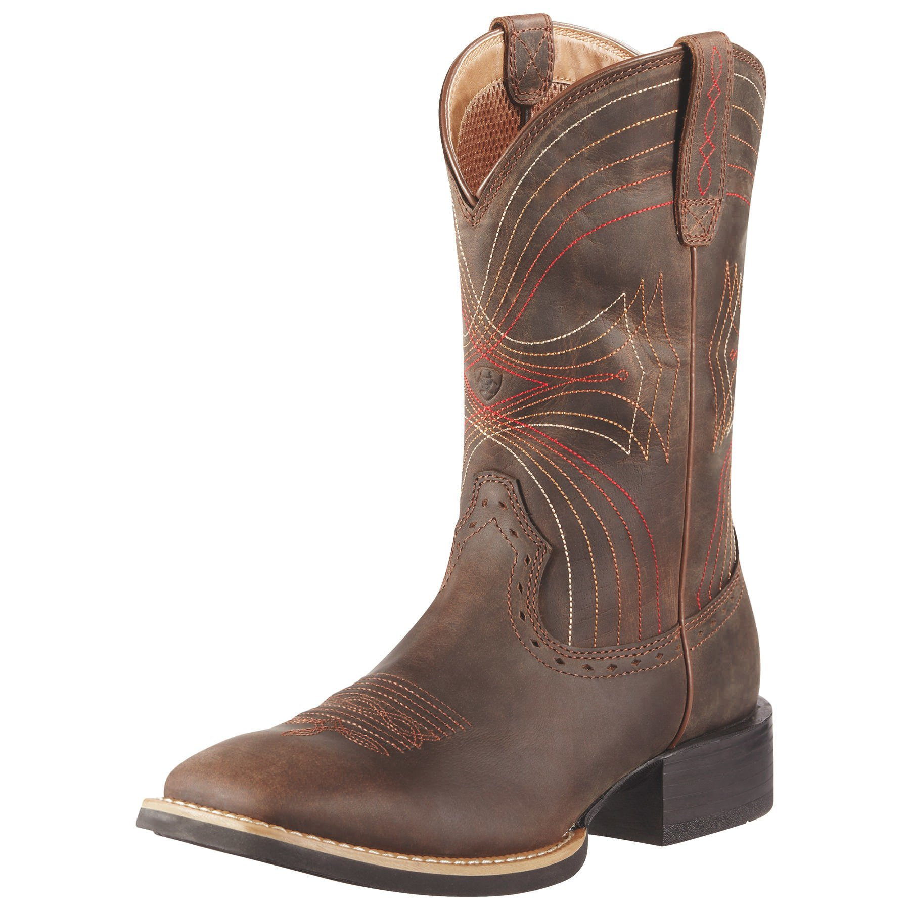 Ariat Men's Sport Wide Square-Toe Western Cowboy Boot, Distressed Brown, 10.5 2E US