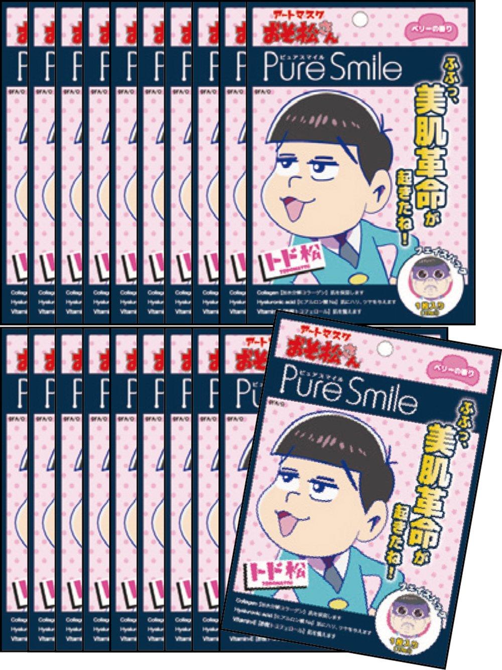 ピュアスマイル 『おそ松さんアートマスク』(トド松柄/ベリーの香り)20枚セット   B01F39WB0E