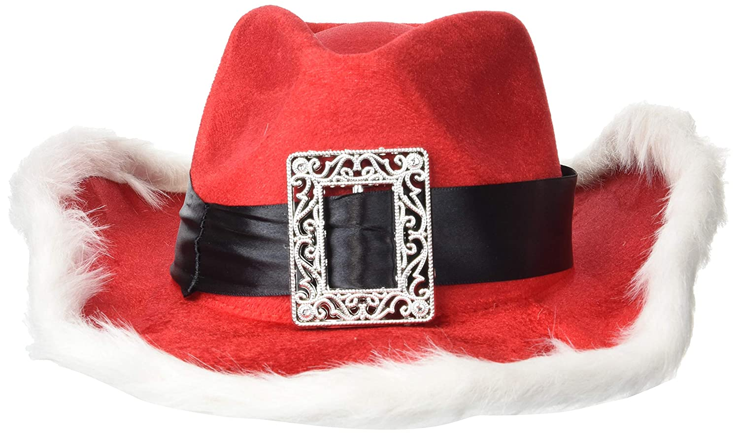 Amazon.com  Christmas Santa Cowboy Hat 85fc2939969