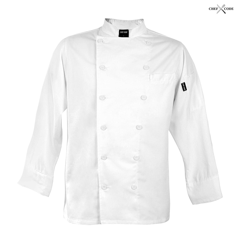 Chef Code Women's Executive Chef Coat 12 Button 100% Cotton CC114