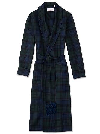 Derek Rose Mens Classic Tartan Pure Wool Dressing Gown (Medium ...