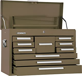 product image for Kennedy Manufacturing 360B 10-Drawer Machinist's Chest with Friction Slides, Brown Wrinkle