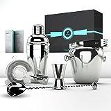 Bartending Kit Professional Executive Barware Set - Martini Shaker Set and Bar Tools By Pacific Standard