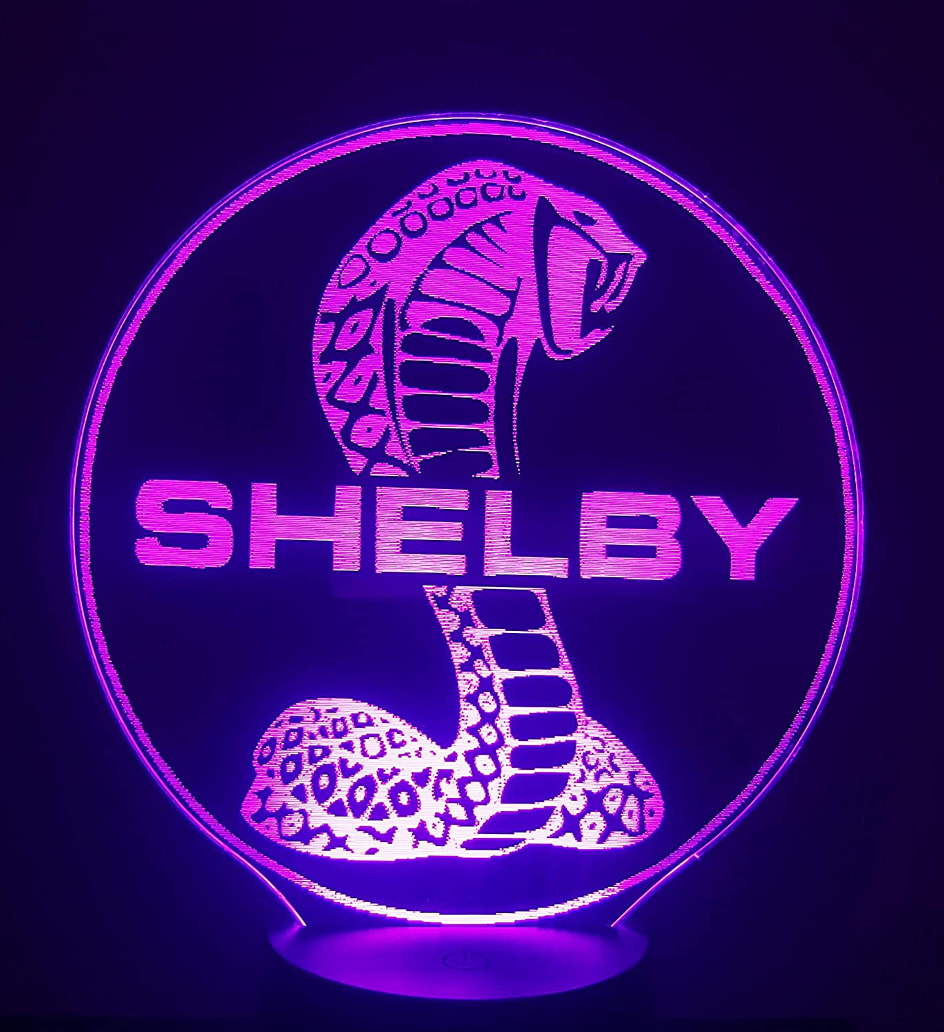 Lampe 3D Motif: FORD MUSTANG SHELBY
