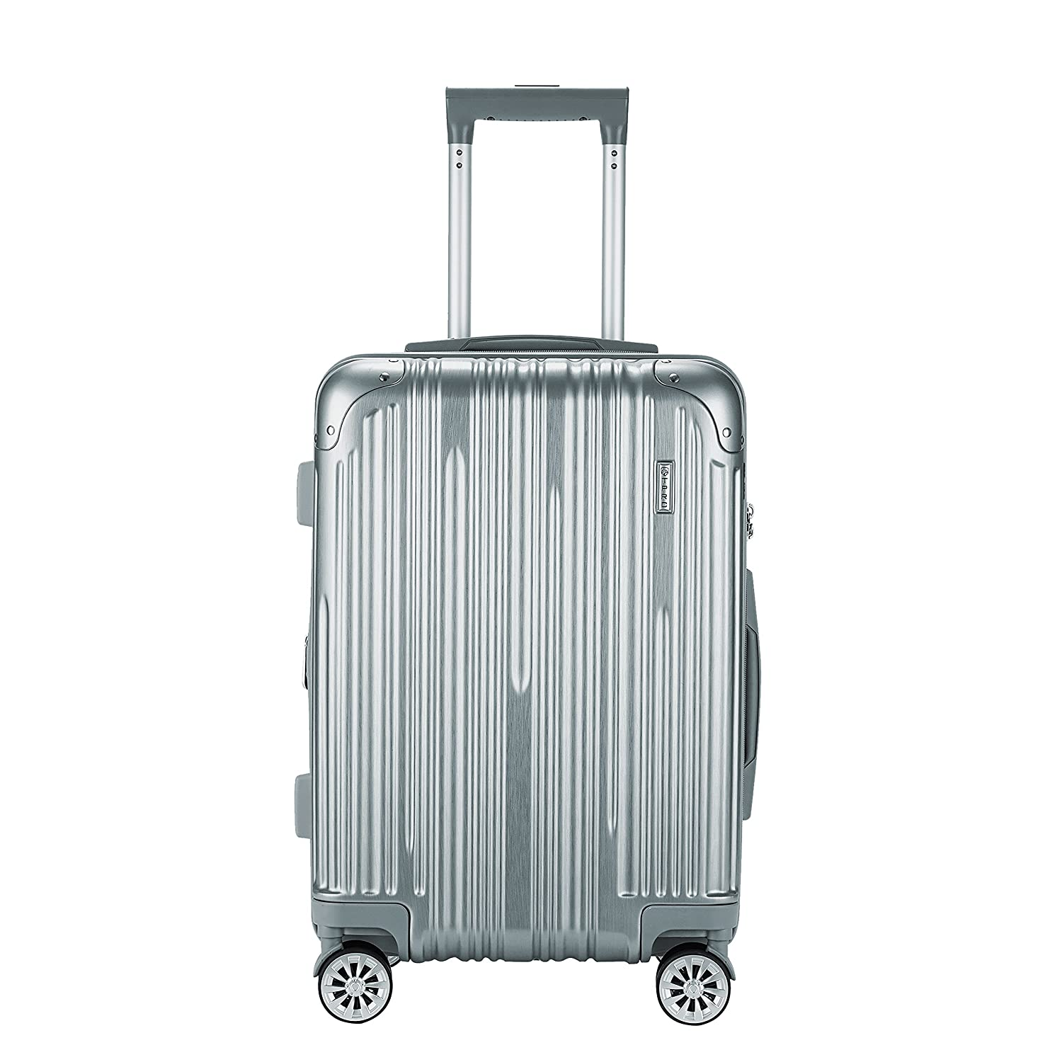 Silver Color Option and 20 Carry-On 24 Upright TPRC 3 Piece Nurmi Collection Premium 8-Wheel Luggage Set with TSA Lock System Includes 28 Suitcase