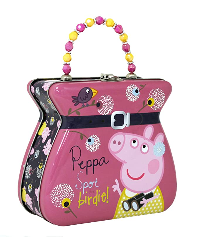 Amazon.com: Tin Box Company Peppa Pig Carry All Tin ...