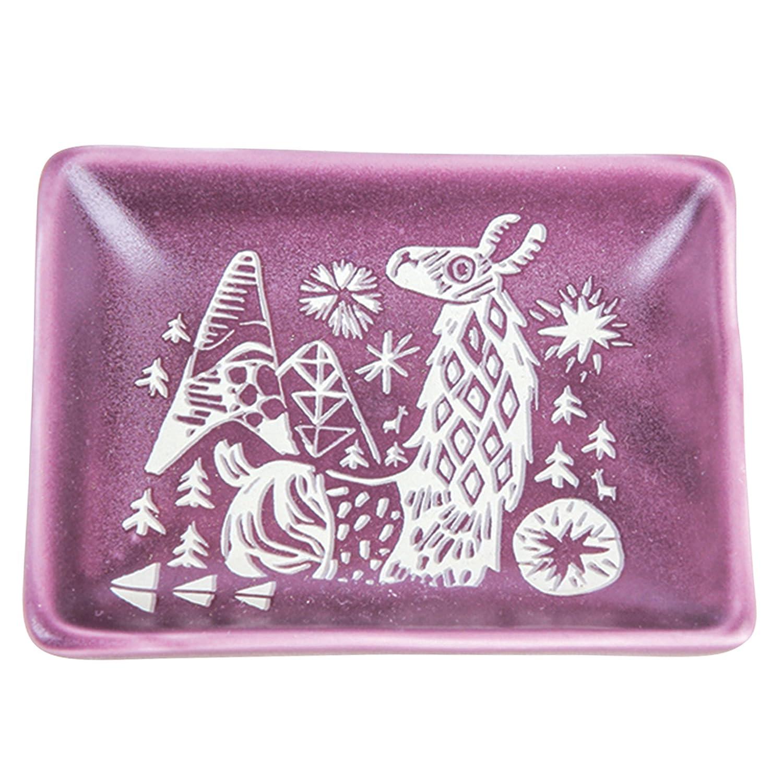 Karma Gifts Modern Folkloric Trinket Tray, Bird Karma Gifts by Stephen Joseph KA201933