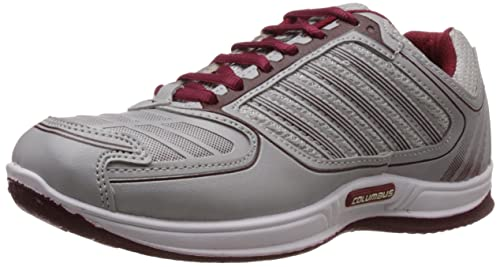 c5e3484748be Columbus Men Grey Maroon Sports Shoes available at Amazon for Rs.399