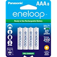 Deals on 8-Pk Panasonic Eneloop AAA 2100 Cycle Ni-MH Rechargeable Batteries