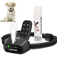 Collar de entrenamiento para perros Citronella con control remoto, sin pulverizador de citronela, collar de corteza para…