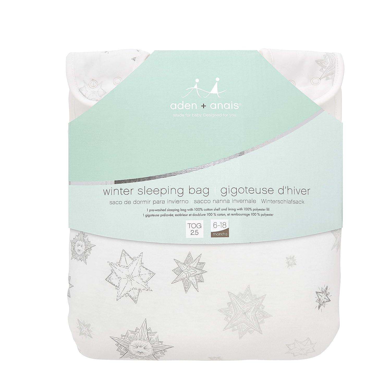 Amazon.com: aden + anais Winter Sleeping Bag - Starry Stars - 6-18m: Baby