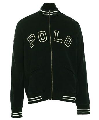 Polo Ralph Lauren Men's Fleece Track Jacket Large Polo Black at ...