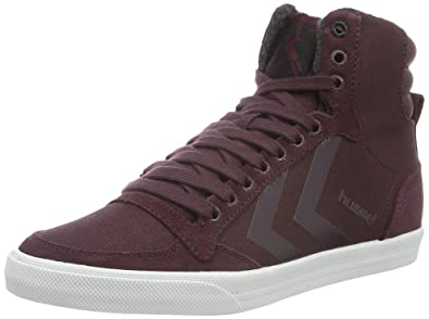 Unisex Adults Slimmer Stadil Smooth Canvas Hi-Top Trainers Hummel 5NZiz6I