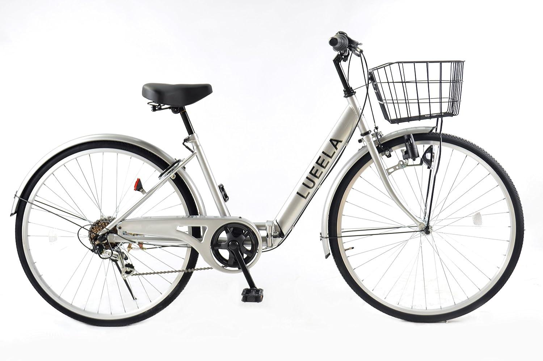 21Technology CT266 2018年新型 折りたたみ自転車 シティサイクル ママチャリ 26インチ シマノ製6段変速ギア付き B00IADP09U ピュアシルバー ピュアシルバー