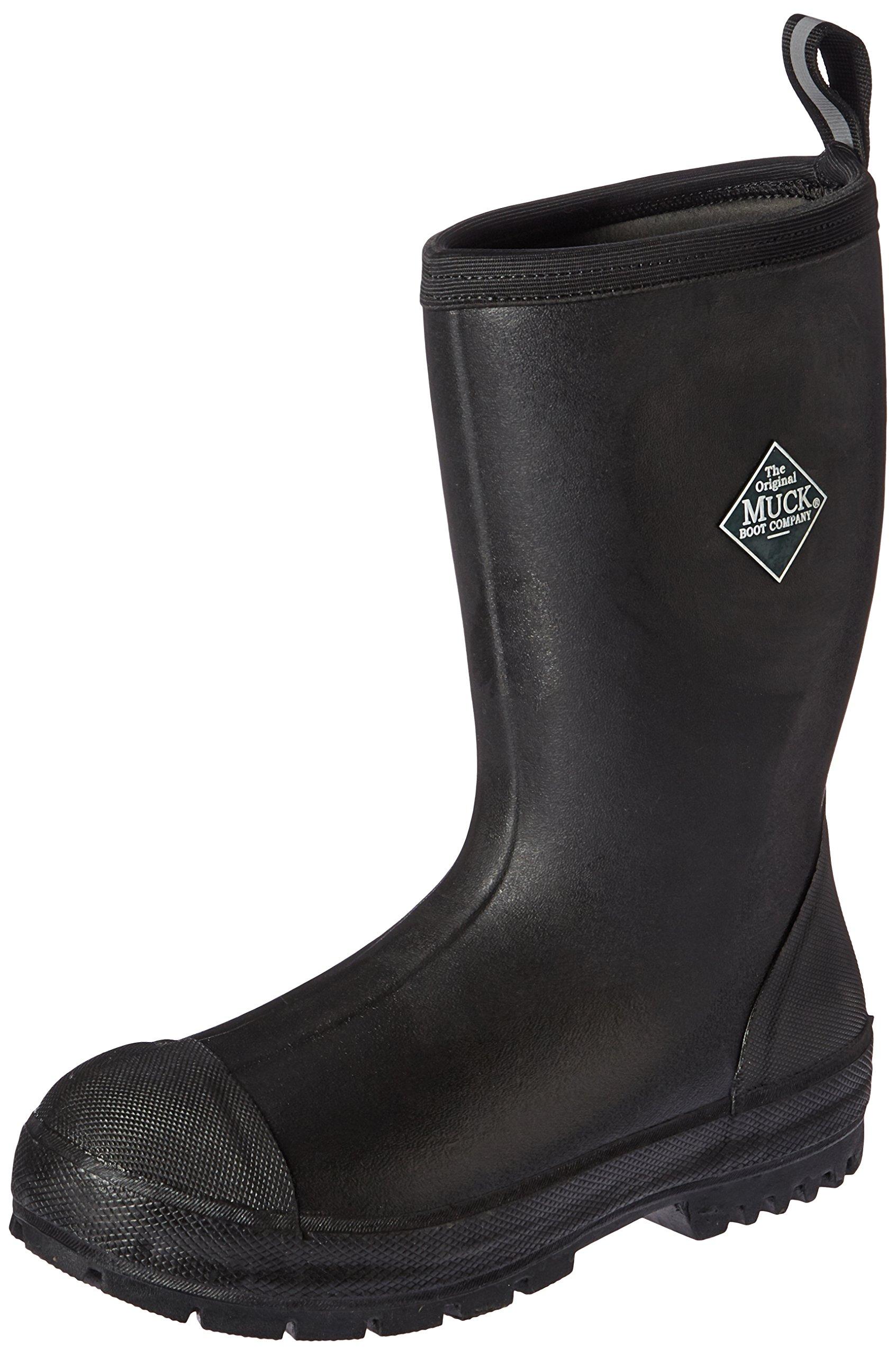Muck Boot Men's Chore Resistant Mid Work Boot, Black, 13 M US