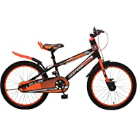 Ollmii Bikes Destrro Steel Kids Cycle 20 inches Neon Orange and Black for 7 to 10 Years